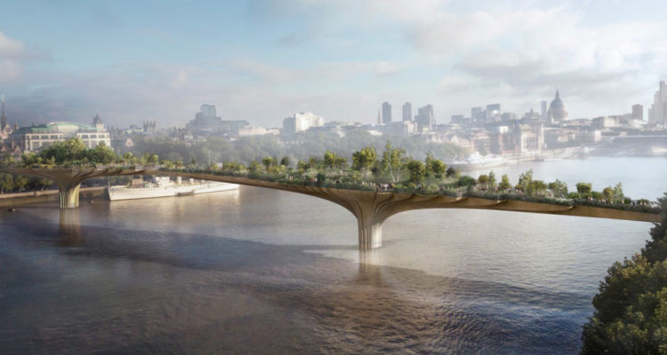 London Mayor Sadiq Khan Scraps Plans for Garden Bridge Designed by Heatherwick Studio