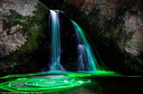 Neon Waterfalls - Sean Lenz and Kristoffer Abildgaard