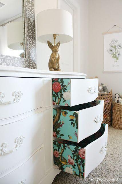 One of the stylish ideas for beautifying the drawers